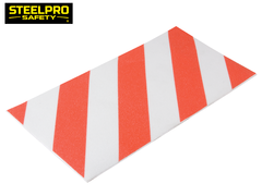 Palmeta Antideslizante Blanco-Rojo 200MM X 400MM