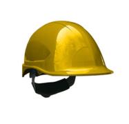 Casco steelpro ABS MTA amarillo con Barbiquejo
