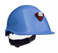 Casco Steelpro MTA con Porta lámparas Azul