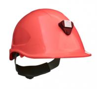 Casco Steelpro MTA con Porta lámparas Rojo