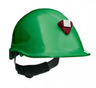 Casco Steelpro MTA con Porta lámparas Verde