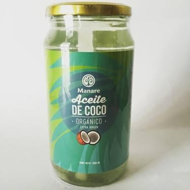 Aceite de Coco Manare, Orgánico y Extra Virgen, 1 litro