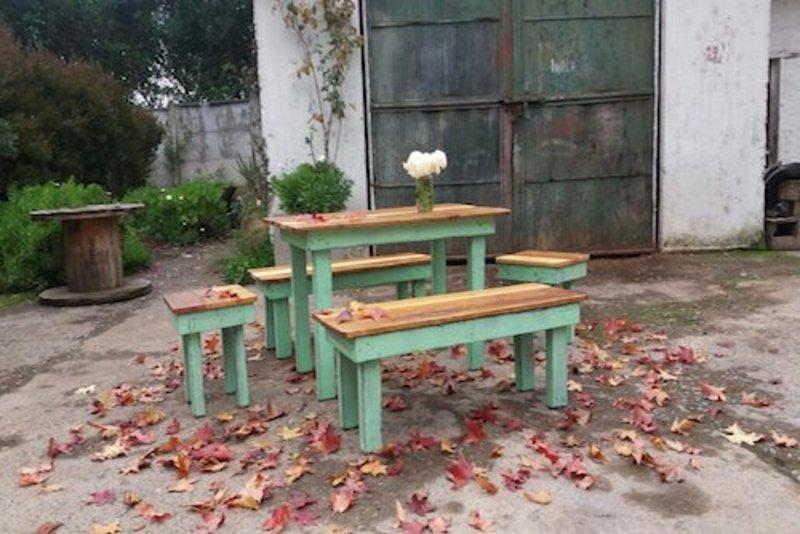 Juego de comedor de terraza de pallet terrazachic - Comedor de terraza ...