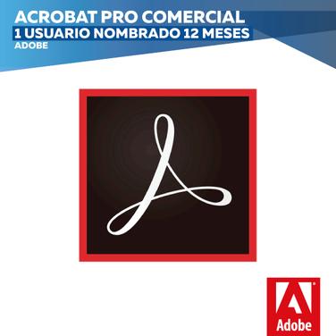 Adobe Acrobat Pro Comercial (1 Usuario nombrado 12 meses)