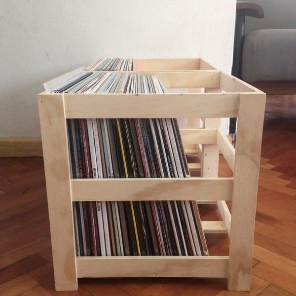 Caja de madera para vinilos needle - Cajas de madera online ...