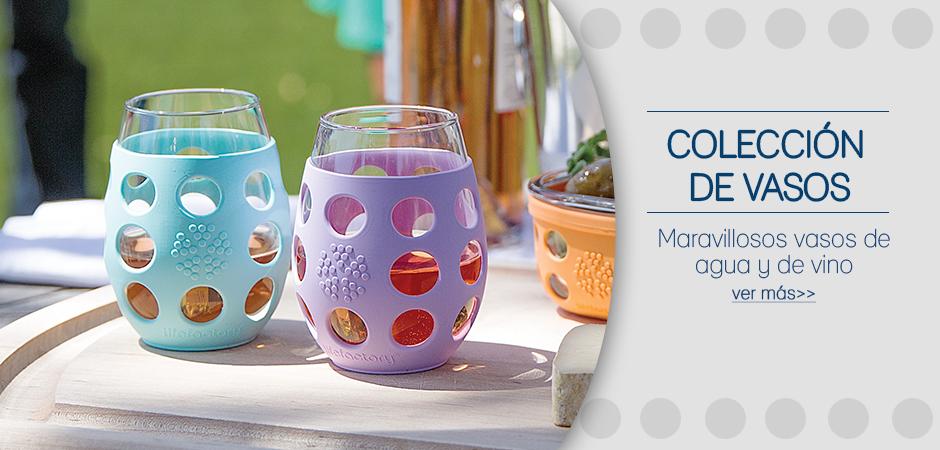 Colección vasos de agua y vino.